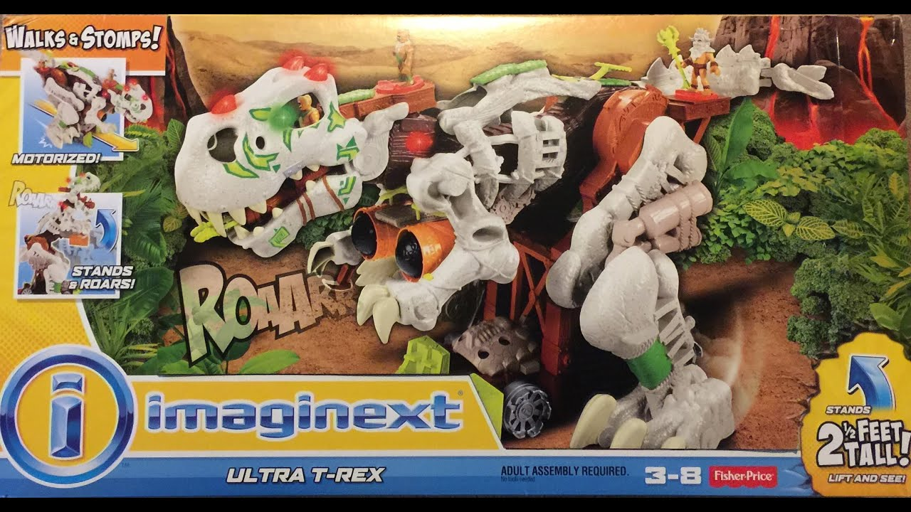 Fisher-Price Imaginext Ultra T-Rex unboxing and demo - YouTube
