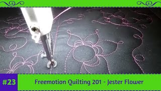 #FMQ201 ( Video #21 - Jester Flowers ) Longarm Free Motion Quilting Video(100 free motion designs in 100 days x 2! #FMQ101 #FMQ201 by Tracey Russell from Whirls n Swirls Quilting on my APQS Lenni Visit my website: ..., 2015-10-19T13:28:09.000Z)