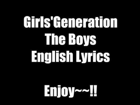 Girls' Generation (SNSD 소녀시대) - The boys ENGLISH VERSION and Code Lyrics