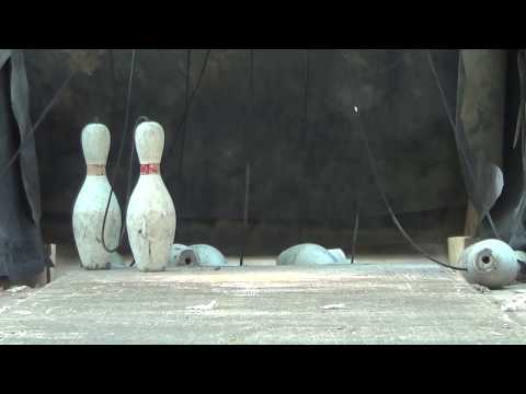 Backyard Duckpin Bowling With String Pinsetter