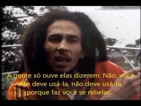 Bob Marley falando sobre a erva ganjah marijuana cannabis sativa hemp