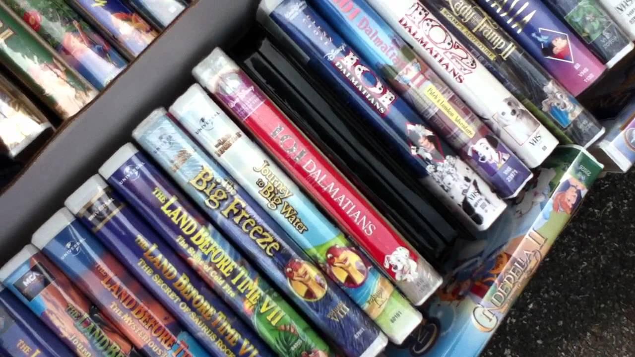 Garage Sale Tour #2: Disney Masterpiece Collection VHS Tapes!