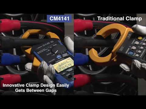 HIOKI AC Clamp Meter CM4141 | New Clamp Design Lets You Get Between Thick Conductors with Ease