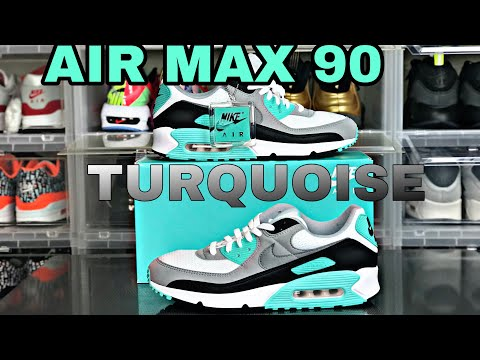 """nike-air-max-90-2020-""""turquoise""""-review-&-on-feet"""