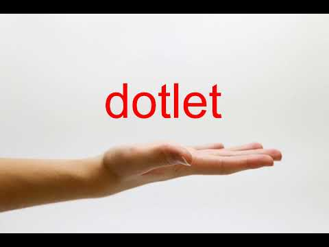 How to Pronounce dotlet - American English