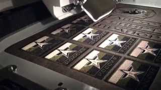 Процесс производства нашивок. Вышивка и вырезка.(Первое смонтированное видео описывающее процесс вышивки. Показано только два момента, это непосредственно..., 2015-03-12T16:10:00.000Z)
