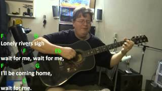 Unchained Melody - Alex North and Hy Zaret - Guitar Chord Practice - Key = C Major