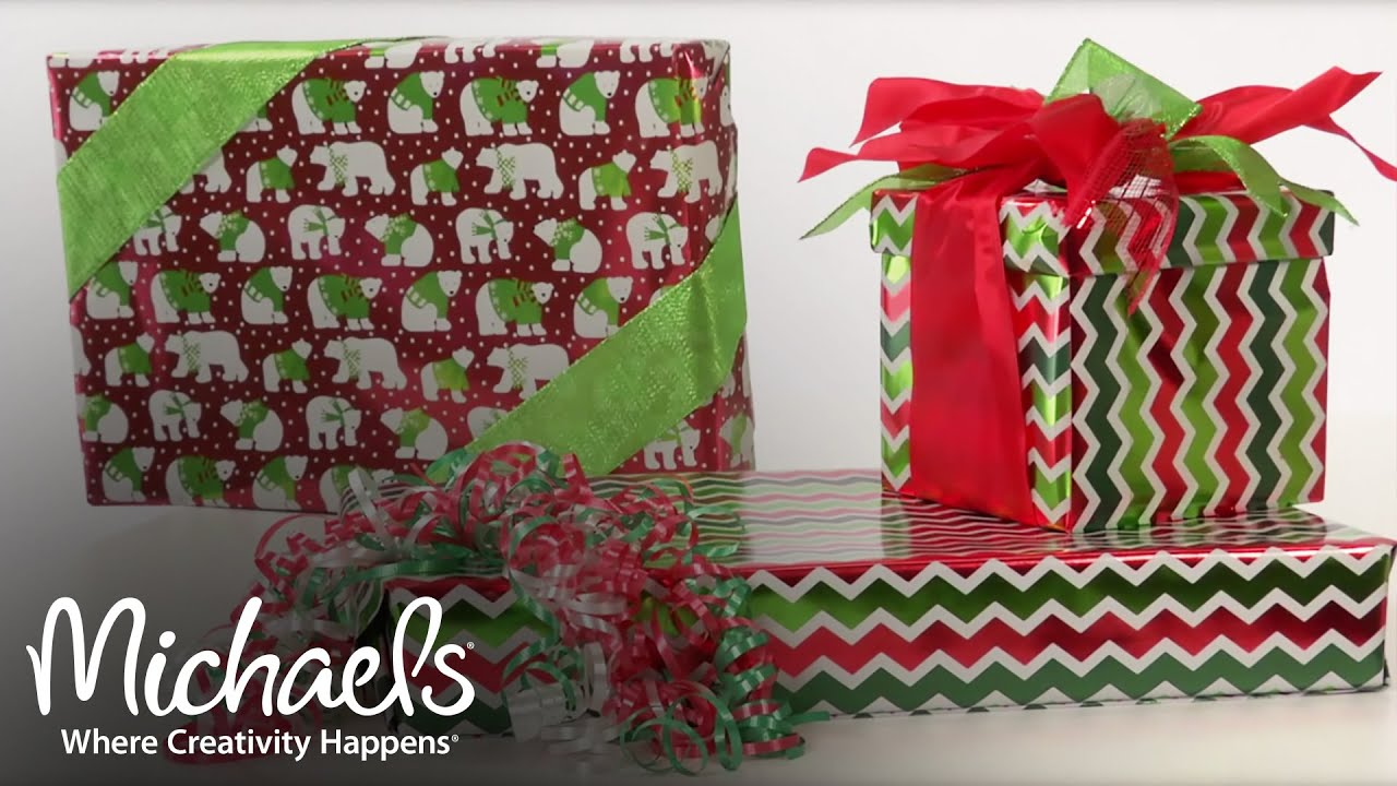 wrap with ribbon mesh make it merry michaels youtube