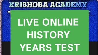 HISTORY YEARS SHORTCUT + ONLINE TEST