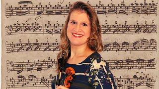 String Crossings in Partita in E major Preludio by JS Bach BWV 1006