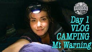 Mt Warning cycling, Camping Day 1 VLOG