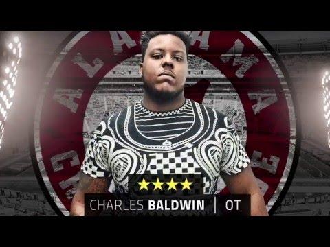 Alabama 2016 recruit Charles Baldwin highlights