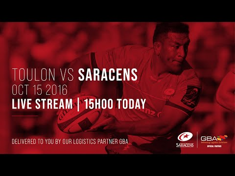 Live Stream | Toulon V Saracens Men (2016/17 Champions Cup Pool Stage)