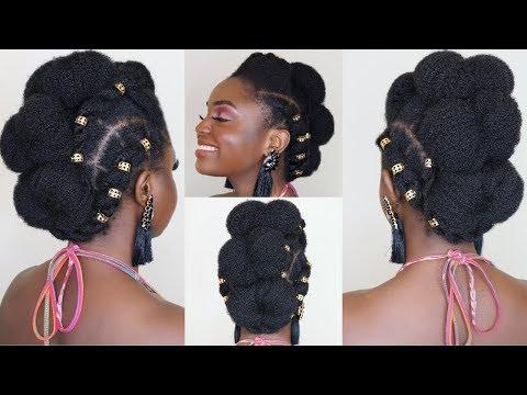 Festival Hairstyle on 4c Hair ft TGIN