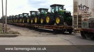 John Deere Tractors On Train