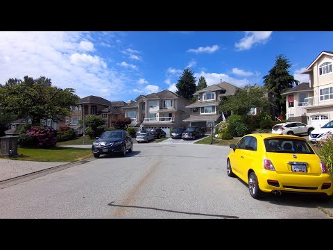 Life in PORT Coquitlam, BC, Canada. Driving Tour of City. Houses/Residential Area.