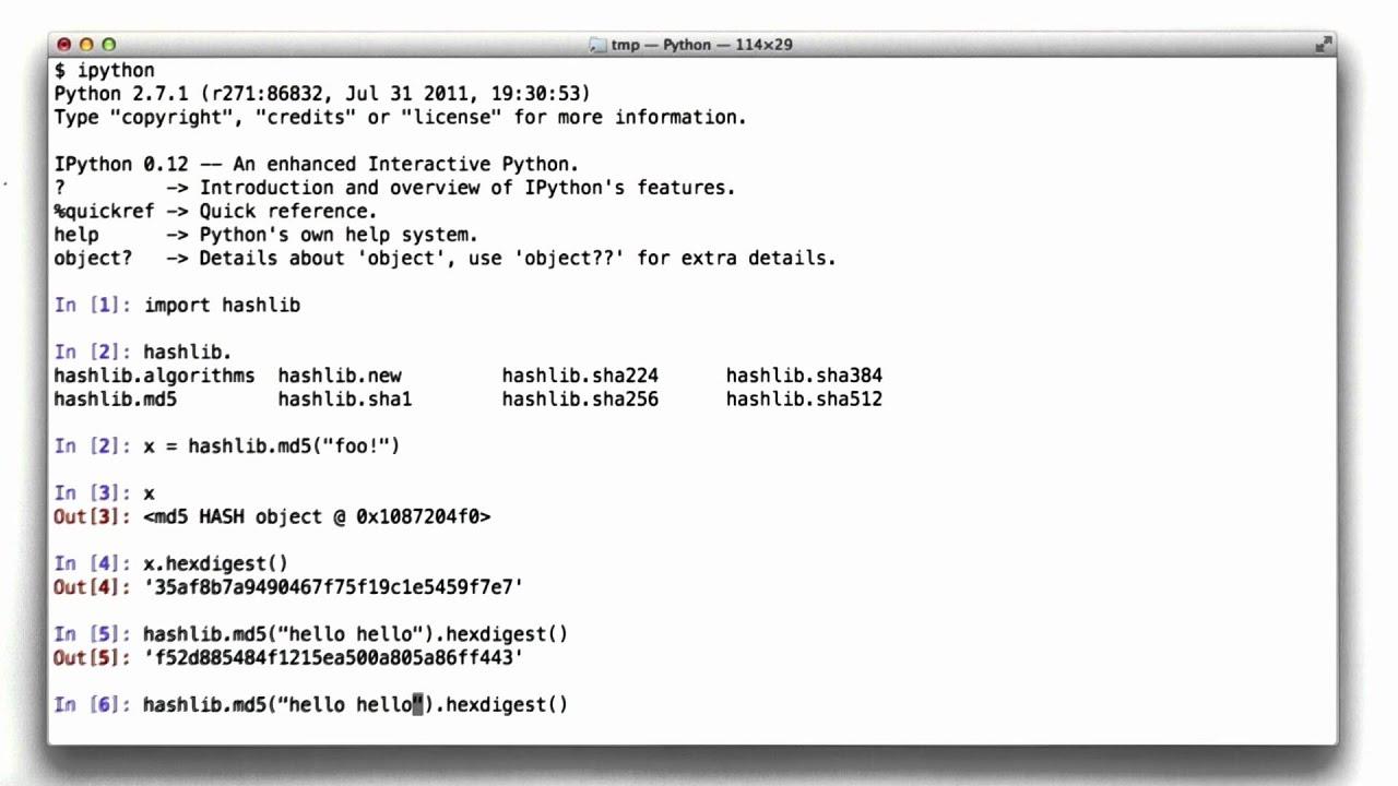 Hashing In Python - CS253 Unit 4 - Udacity