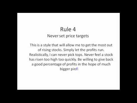 10 Rules for Stock Trading Success