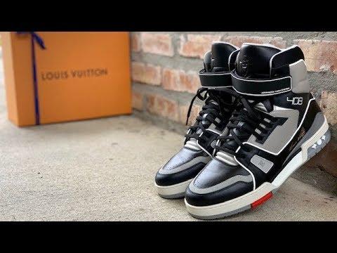 ab8b93bb89db Louis Vuitton x Virgil Abloh SS19 High Top Sneaker review - YouTube