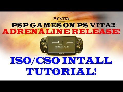 ADRENALINE Install Tutorial!!! TaiHENkaku, PSP ISO/CSO Games on PS VITA!