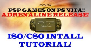 ADRENALINE Install Tutorial!!! TaiHENkaku, PSP ISO/CSO Games on PS VITA!