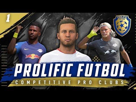 FIFA 19 Pro Clubs 11v11 Competitive | VPN | Prolific Futbol Ep. 1 Season Opener