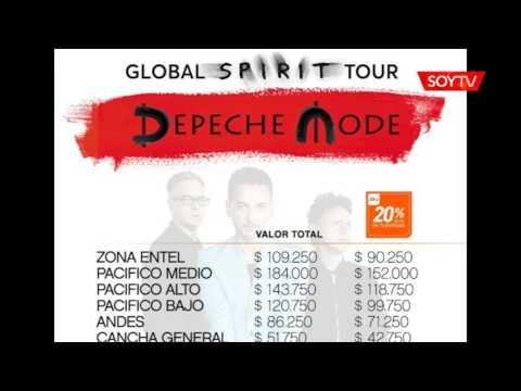 Conoce los precios de las entradas para el concierto de Depeche Mode
