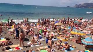 Пляж Судак. Крым. 20.07.2016 11-00(
