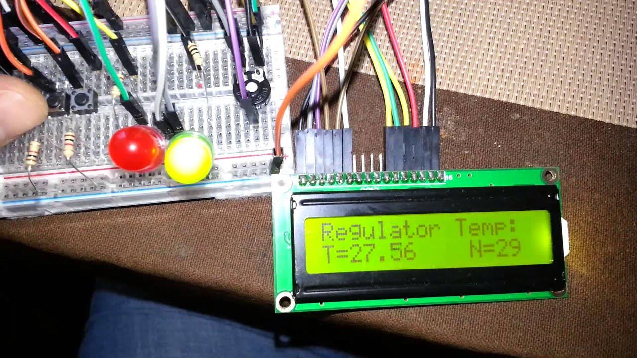 termoregulator arduino ds18s20 lcd16x2