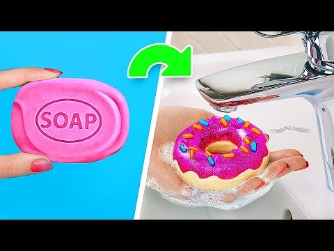 6 DIY Soaps Almost Too Pretty To Use / Nutella Soap, Donut Soap, M&M's Soap!