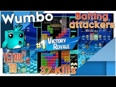 Tetris 99 Baiting Attackers - 37 Kills - #1 Victory Royale