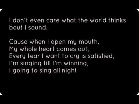 Christina Aguilera- Sing For Me Lyrics