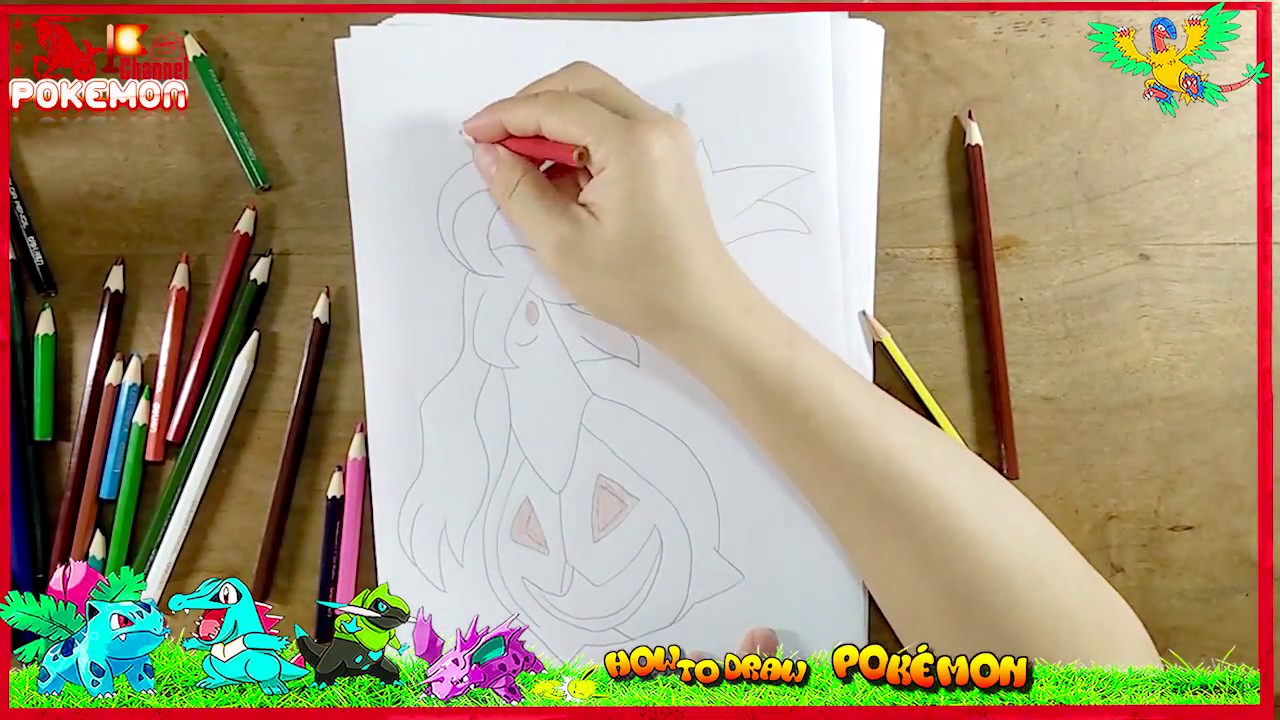 how to draw pokemon emoji scrafty snorlax pikachu gengar