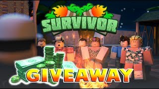 PLAYING SURVIVOR IN ROBLOX ON PRIVATE SERVER + ROBUX GIVEAWAY