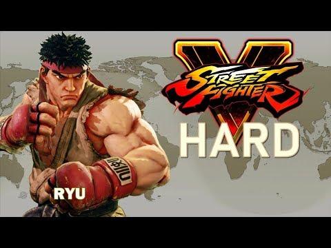 Street Fighter V - Ryu Arcade Mode (HARD)