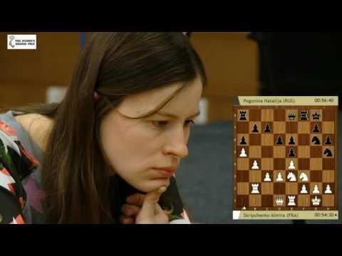 FIDE Women´s Grand Prix in Khanty Mansiysk 2016 Round 6 Almira Skripchenko vs Natalija Pogonina
