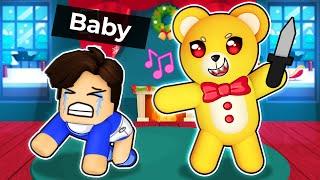 My EVIL TEDDY BEAR in Roblox Daycare!