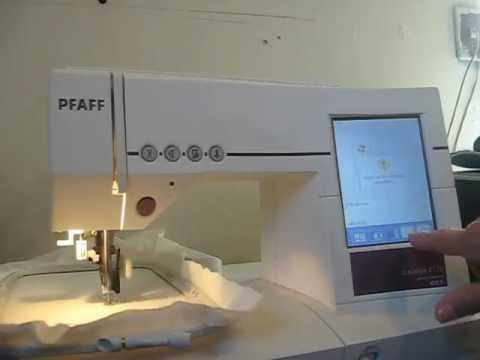My Pfaff 2170 Embroidery And Sewing Machine In Action