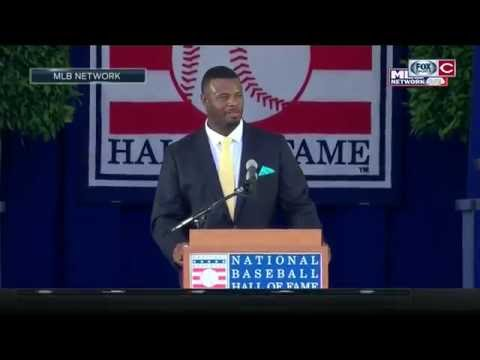Ken Griffey Jr. remembers his time with the Cincinnati Reds during HOF induction speech