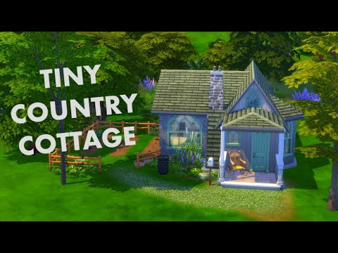 SIMS 4: TINY COUNTRY COTTAGE (WITH THE NEW COUNTRY KITCHEN KIT) |