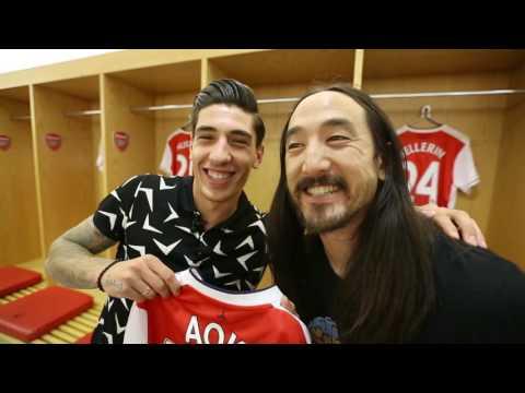 Steve Aoki Meets Hector Bellerin of Arsenal [Part 1 of 2]