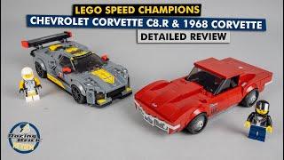 LEGO Speed Champions 76903 Chevrolet Corvette C8.R & 1968 Corvette Detailed Building Review