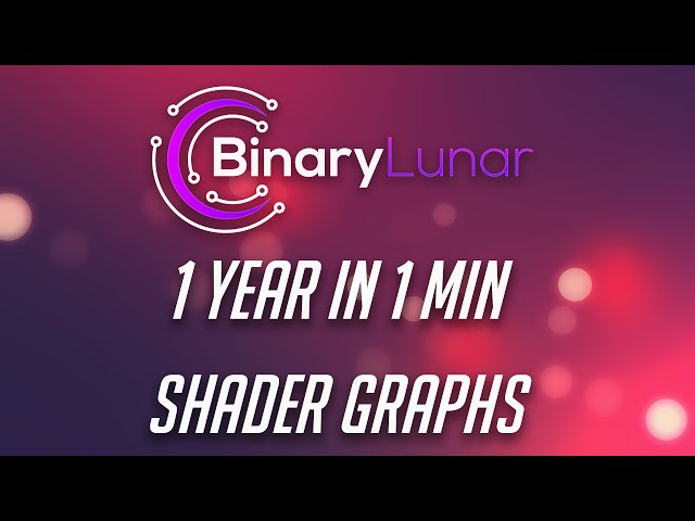 1 Year of Unity Shader Graphs in 1 min
