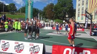 Спортивное мероприятие на площади Свободы. Баскетбол.
