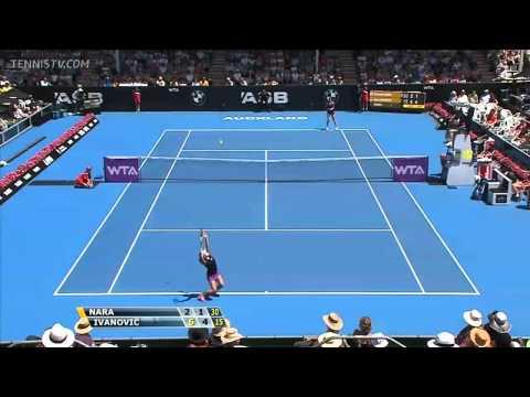 Ana Ivanovic vs Kurumi Nara Highlights Auckland 2014 Quarter-Final