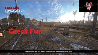 V Rally 4-England Rallycross Gameplay