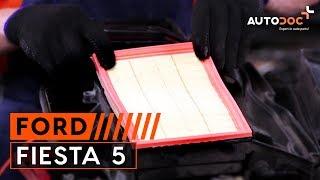 Cum se inlocuiesc filtru de aer motor pe FORD FIESTA 5 TUTORIAL | AUTODOC