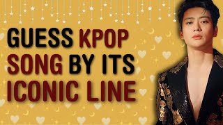 CAN YOU GUESS THE KPOP SONG BY ITS ICONIC LINE #3 | KPOP GAMES