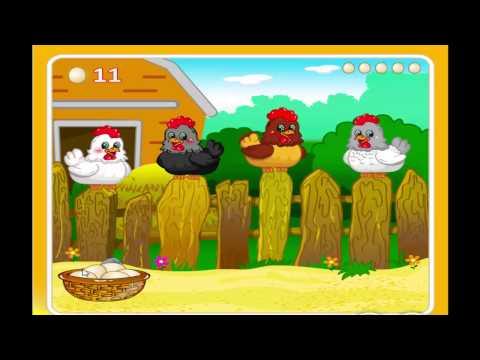 птичий двор, яйца с сюрпризом, детские игры онлайн
