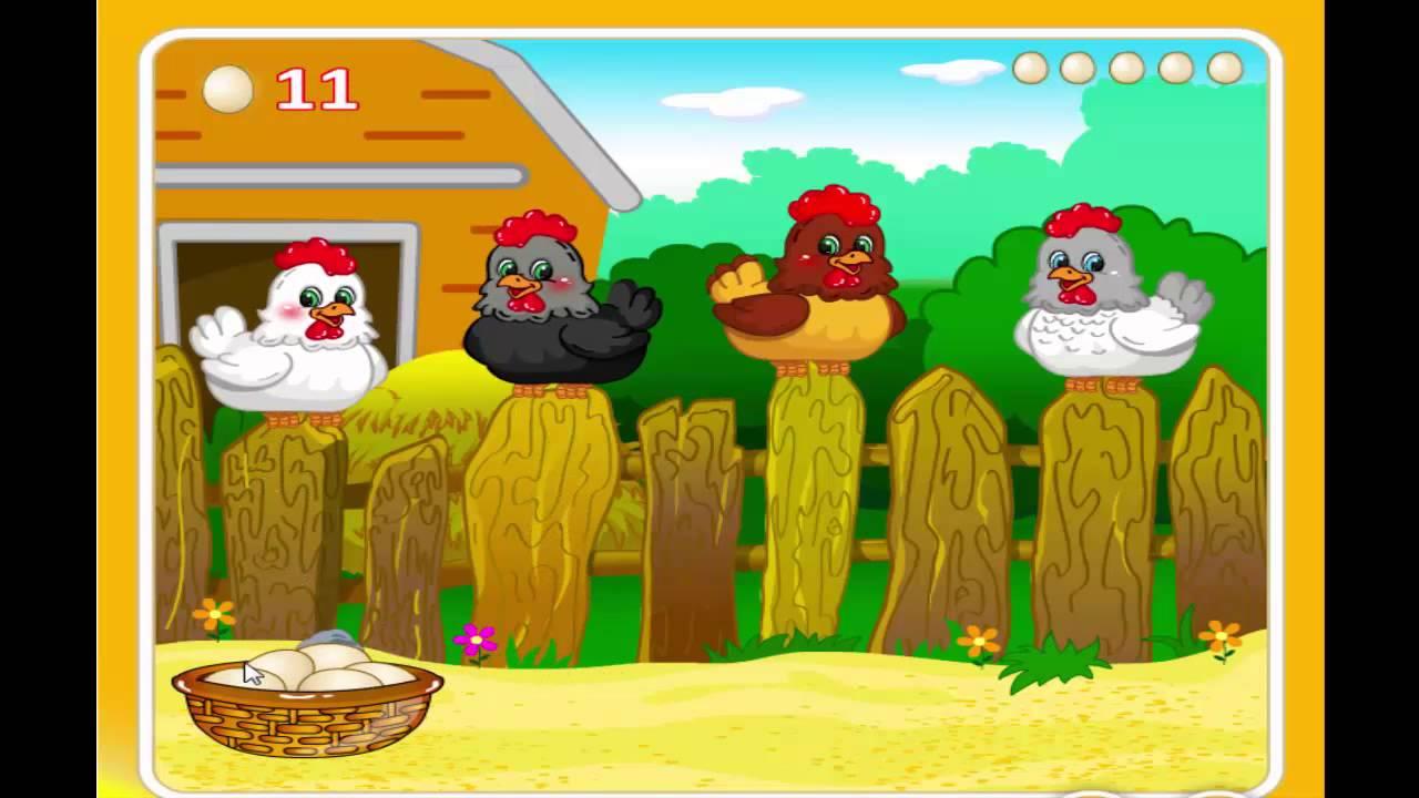 птичий двор, яйца с сюрпризом, детские игры онлайн - YouTube